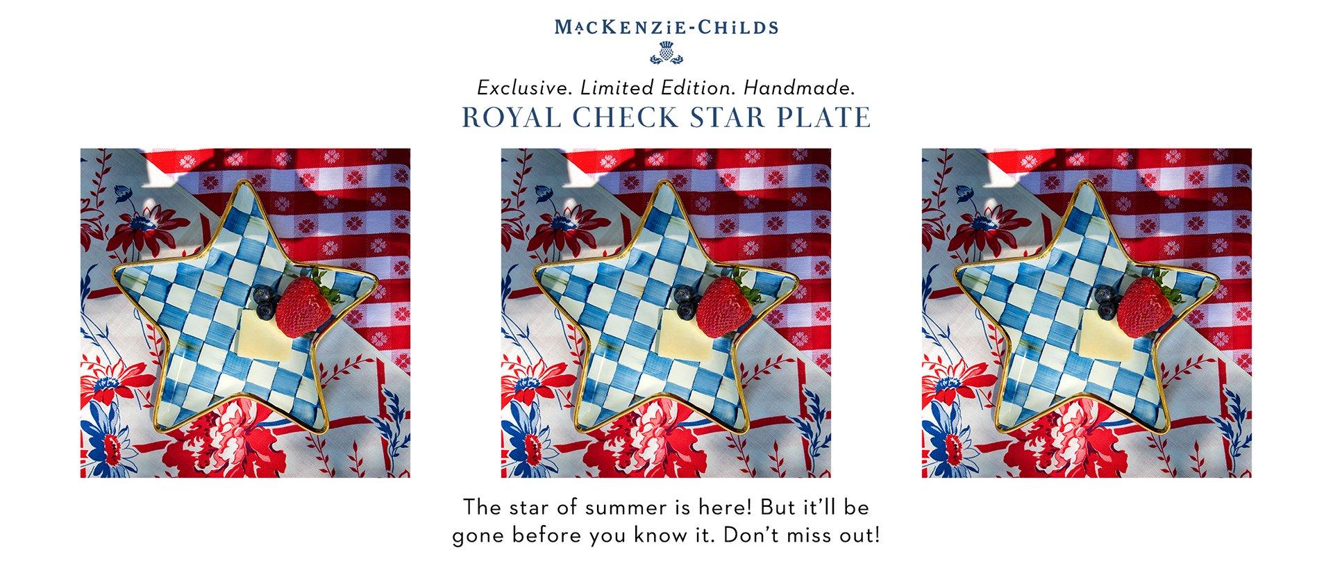 Royal Check Star Plate